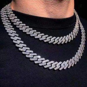 Iced Out Silver Diamond CZ Curb Cuban Link Chain